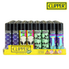 Clipper Lighter Regular Size Psychedelic 8 w/ Removable / Replaceable Flint / Poker