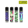 Clipper Lighter Regular Size Psychedelic 8 w/ Removable / Replaceable Flint / Poker 48/pack