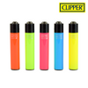 Clipper Lighter Regular Size Soft Fluorescent w/ Removable / Replaceable Flint / Poker 48/pack
