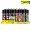 Clipper Lighter Regular Size Psychedelic 7 w/ Removable / Replaceable Flint / Poker