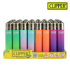 Clipper Lighter Regular Size Plastic Metallic Gradient CP21 w/ Removable / Replaceable Flint / Poker