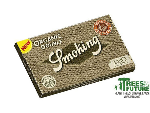 Smoking Organic Single Size Double-Window 120/pack 25/box