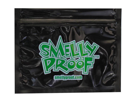 "Smelly-Proof Mylar Storage Bags -  4x6"" Small - Black 100/pack"