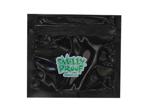"Smelly-Proof Mylar Storage Bags -  3x4"" XSmall - Black 100/pack"
