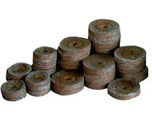 "Jiffy Peat Pellet Grow Medium Expanding Puck 1.25"" Small 1700/box"