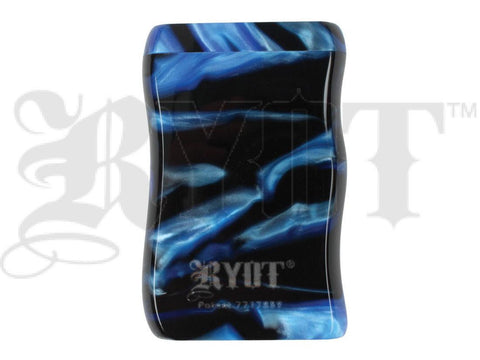 RYOT Dugout - Acrylic - Magnetic Lid - Poker and Bat Included - Short/Small - Blue/Black