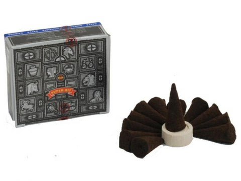 Incense Cones - Super Hit - 12 Cones / Box