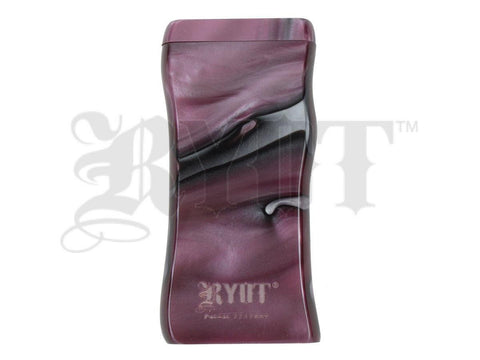 RYOT Dugout - Acrylic - Magnetic Lid - Poker and Bat Included - Large - Purple/Pearl