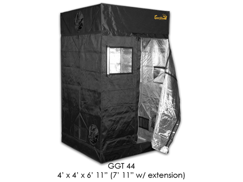 "Gorilla Grow Tent 4x4x6'11""-7'11"" With Included Extension GGT44"