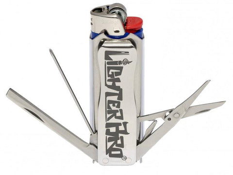 Lighter Bro Multifunction Lighter Case - Silver (also available in Black Stealth)