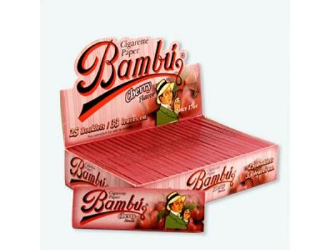 Bambu Flavoured Strawberry 1-1/4 Size 33pk 25box