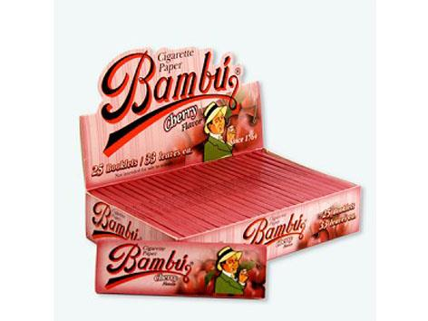 Bambu Flavoured Cherry 1-1/4 Size 33pk 25box