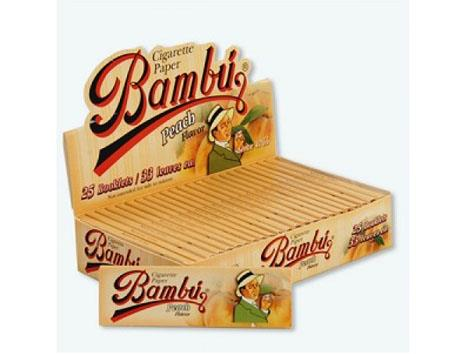 Bambu Flavoured Peach 1-1/4 Size 33pk 25box