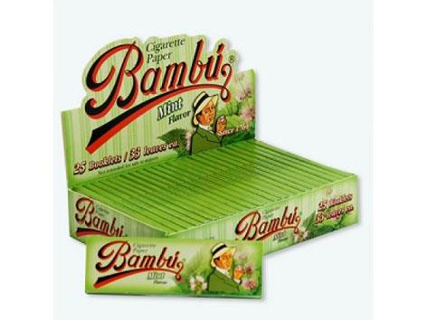 Bambu Flavoured Mint 1-1/4 Size 33pk 25box