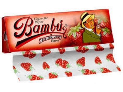 Bambu Flavoured Strawberry 1-1/4 Size 33pk