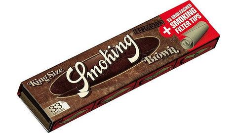 Smoking Brown King Size 33/pack With Tips! 24/box