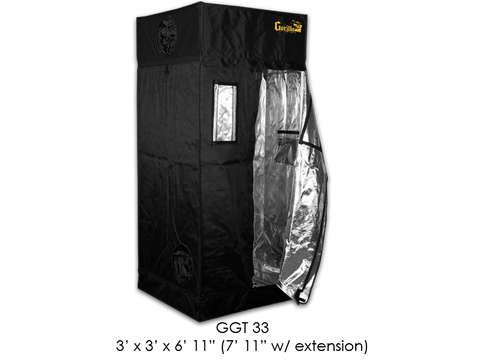 "Gorilla Grow Tent 3x3x6'11""-7'11"" With Included Extension GGT33"