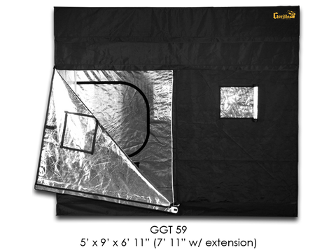 "Gorilla Grow Tent 5x9x6'11""-7'11"" With Included Extension GGT59"