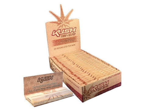 Kush Rolling Papers - 1-1/4 Size 100% Hemp 50/pack 25/box