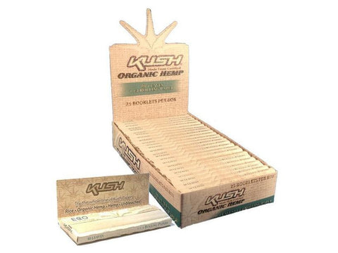 Kush Rolling Papers - 1-1/4 Size Organic Hemp 50/pack 25/box