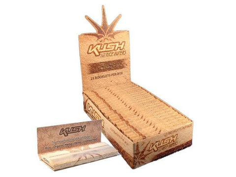 Kush Rolling Papers - 1-1/4 Size Ultra Fine Rice 50/pack 25/box