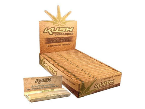 Kush Rolling Papers 1-1/4 Size Unbleached 50/pack 25/box