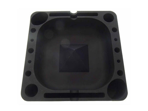 Pulsar Tap Tray Silicone Ashtray Large Square With Accessory Holders