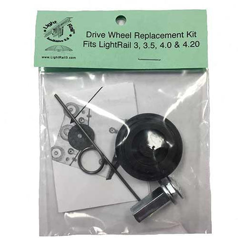 Light Rail IntelliDrive 3.5 Drive Wheel Replacement Kit For Grow Light Mover (Replacement Part)