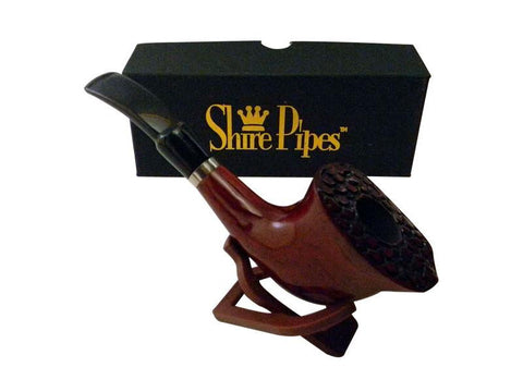 Shire Traditional Wood Pipe - Rosewood Engraved PP104