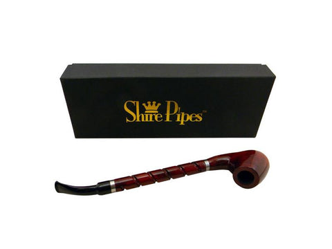 "Shire Traditional Wood Pipe - Rosewood 10"" Bent Brandy PP315"