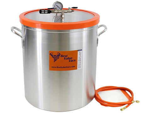 Best Value Vacs Vacuum Chamber Aluminum 15Gallon 13774