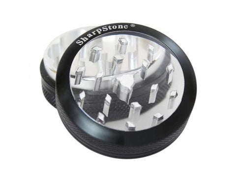 "SharpStone Clear Top 2 Piece Grinder - 2.2"" Choice of Colors"