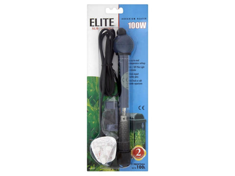 Elite Submersible Aquarium / Hydroponic Reservoir Water Heater 100W