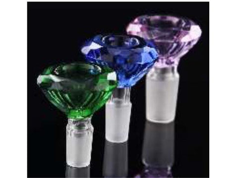 NoName Glass WaterPipe Bowl - 19mm Crystal Diamond Choice of Colors 14151