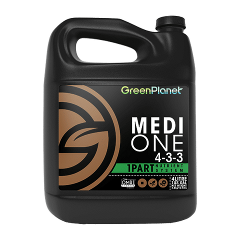 Green Planet Nutrients Medi-One 4L 4-3-3 1-Part Nutrient System OMRI