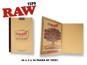 RAW Tips RAWLBook 10 Pages 48/page