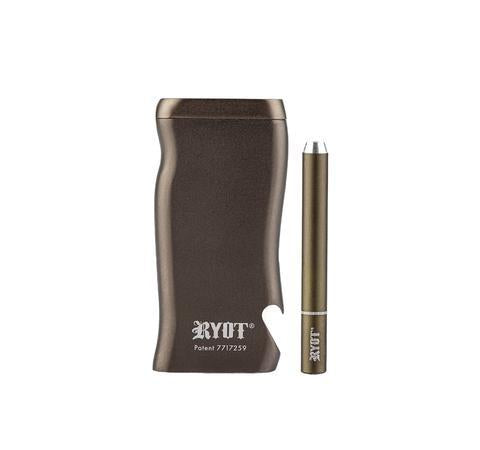 RYOT Dugout - Solid Aluminum - Magnetic Lid, Poker & Bat Included - Large - Gunmetal Grey