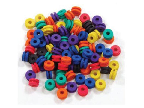 NoName WaterPipe Part - Rubber Grommet - 10mm Donut Fixed Stem Assorted Colors