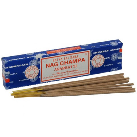 Satya Sai Baba Incense Sticks - Nag Champa 40g Box 12/case