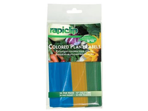 "Luster Leaf RapiClip Plant Labels Stakes 5"" Colors 30/pack"