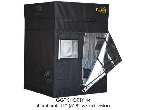 "Gorilla Grow Tent 4x4x5'11""-6'11"" With Included Extension GGT44SH"
