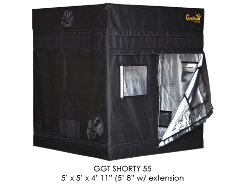 "Gorilla Grow Tent 5x5x5'11""-6'11"" With Included Extension GGT55SH"