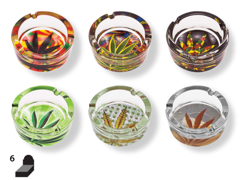 NoName Ashtray - Glass Leaf Assortment - Group 1 (One of this Group)