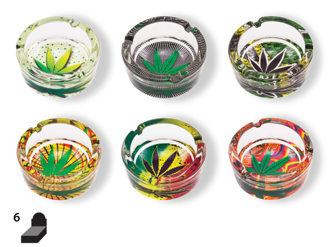 NoName Ashtray - Glass Leaf Assortment - Group 2 (One of this Group)