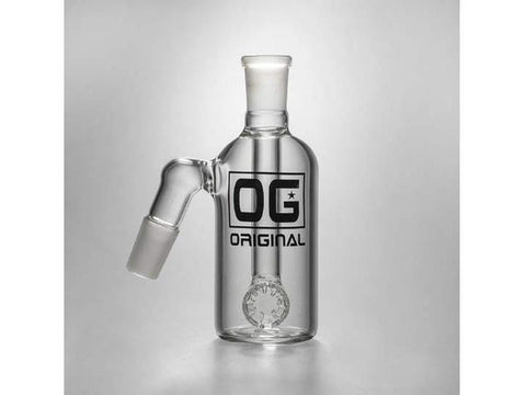 OG Original Glass AshCatcher OG-F2-002 Wheel Perc 19mm 90degree