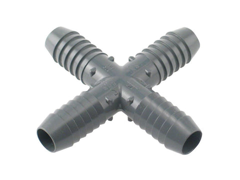 NoName / Boshart Hydroponics Water Hose Part / Accessory - Insert Cross 4-Way 3/4""