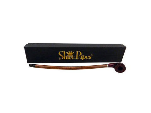 "Shire Traditional Wood Pipe - Rosewood 15"" Curved Brown Stem PP166BR"