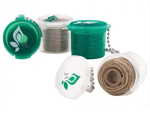 Hemplights Hemp Wick - 15ft Roll with a Key Chain Holder