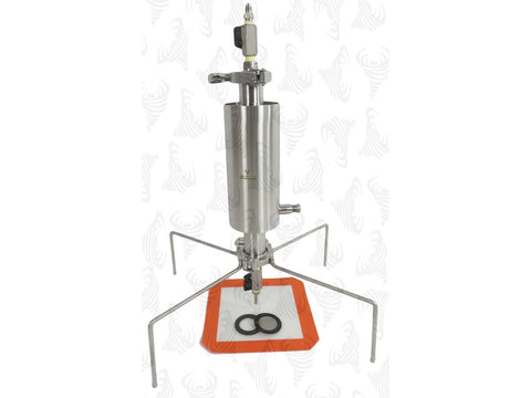 Best Value Vacs Steel Extraction Set - Closed Column Pressurized 90g QuadPod & Dewaxing