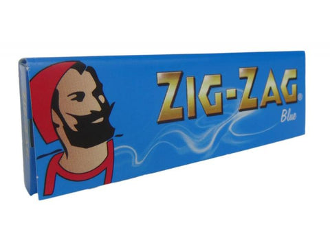 Zig Zag Rolling Papers - Single-Wide Size Blue Slim Hemp/Flax 50/pack 100/box